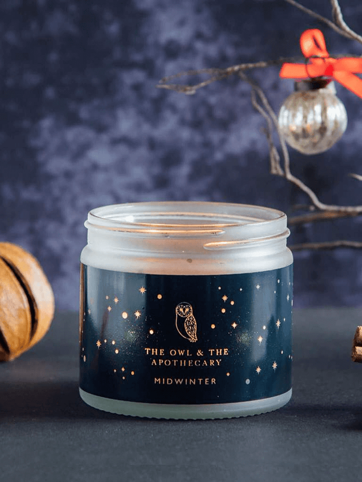 The Owl & The Apothecary Candles Midwinter Crystal Candle - Quartz
