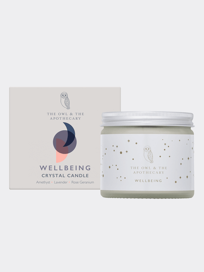 The Owl & The Apothecary Candles Wellbeing Crystal Candle - Amethyst