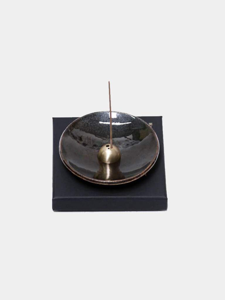 UME Incense  Metallic Stoneware Incense Stick Burner