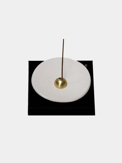 UME Incense  Zen White Stoneware Incense Stick Holder