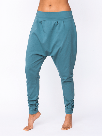 Dharma Organic Yoga Pants for Women, Blue, Natural or Coral - Urban Goddess - £59.95