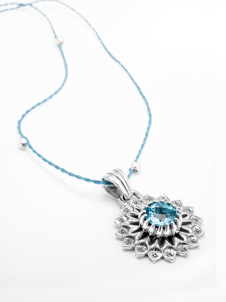 Throat Chakra with Topaz Pendant - Silver