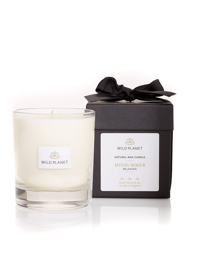 Wild Planet Candles Midsummer Luxury Aromatherapy Soy Candle - Lavender, Geranium & Palmarosa