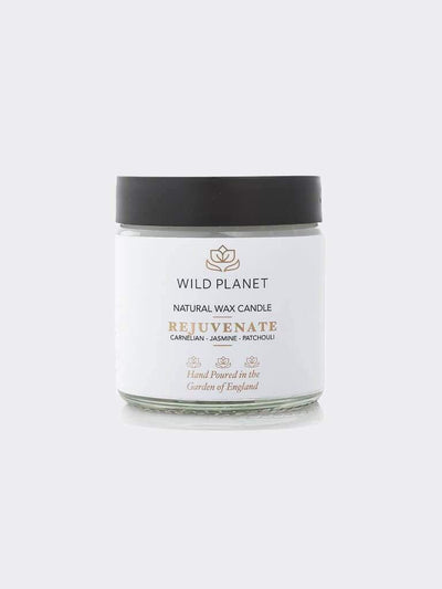 Wild Planet Candles Rejuvenate - Crystal Infused Candle Jar with Carnelian