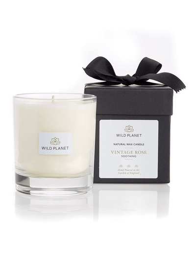 Wild Planet Candles Vintage Rose Luxury Aromatherapy Soy Candle - Geranium & Patchouli