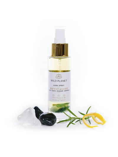 Wild Planet Room Sprays Revitalise - Crystal Infused Aura Spray with Green Moss Agate