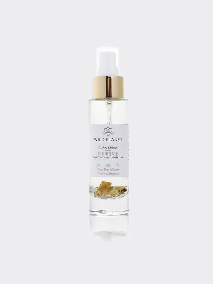 Wild Planet Room Sprays Revive - Crystal Infused Aura Spray with Citrine