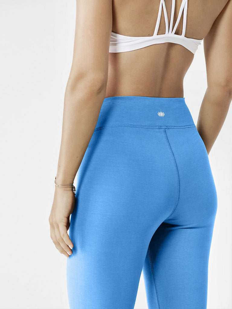 Organic Yoga Leggings - Lightning Blue - Lotuscrafts - £59.95