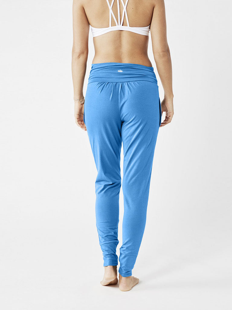 Organic Yoga Pants - Lightning Blue