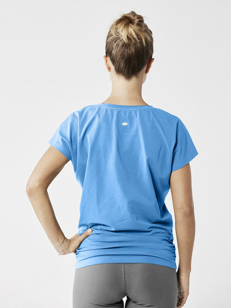Organic Yoga Shirt - Lightning Blue - Lotuscrafts - £44.95