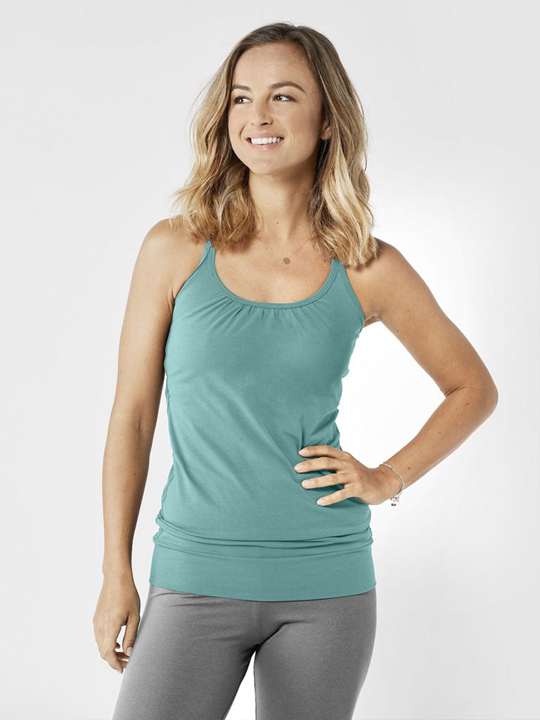 Organic Yoga Vest Top - Sea Green - Lotuscrafts - £44.95