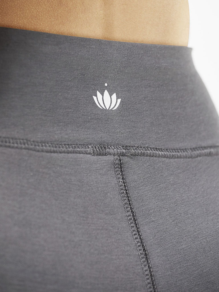 Organic Yoga Leggings - Graphite Grey - Lotuscrafts - £54.95