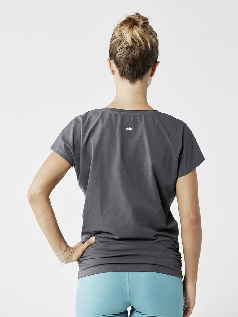 Organic Yoga Shirt - Graphite Grey - Lotuscrafts - £44.95