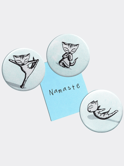 Yoga Cats Magnets Set