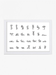 Yoga Cats by Miss Ella Illustration Prints Yoga Cats Art Print