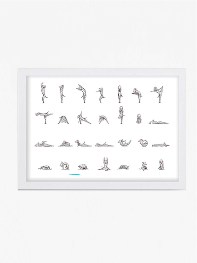 Yoga Cats by Miss Ella Illustration Prints Yoga Dogs Art Print