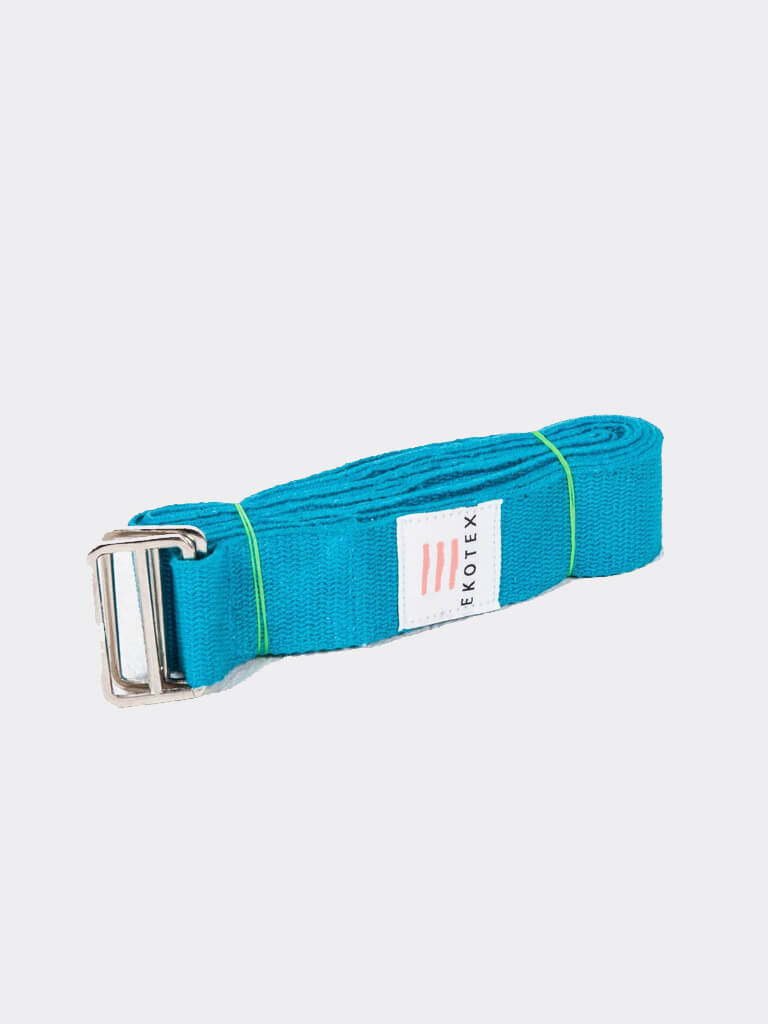 Eko Cotton Yoga Belt - Turquoise - 2.4m