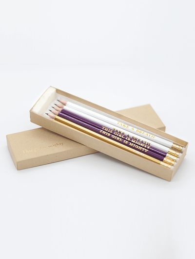 YogaClicks.store Stationary Take a Breath Pencil Gift Box