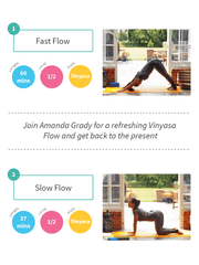 Into the Flow with Amanda Grady: two Vinyasa Flows to ground you - YogaFlicks - £0.00