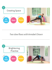 YogaFlicks Streamed Classes Slow Flow with Annabel Chown: two yoga classes for creating space and brightening