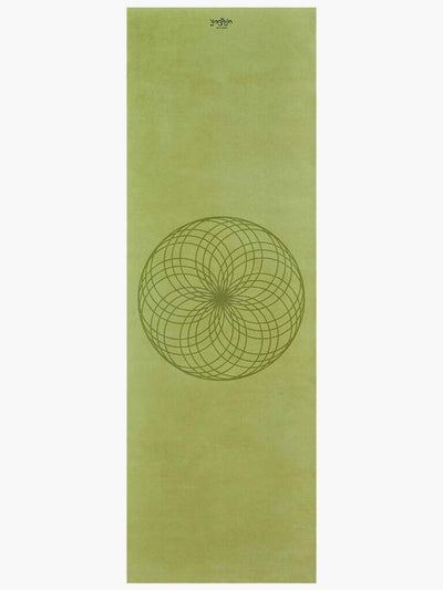 Yogoja Yoga Mats Green Geometry Yoga Mat - Grounding Twirl