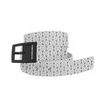 C4 Bits White Classic Belt / Black Buckle