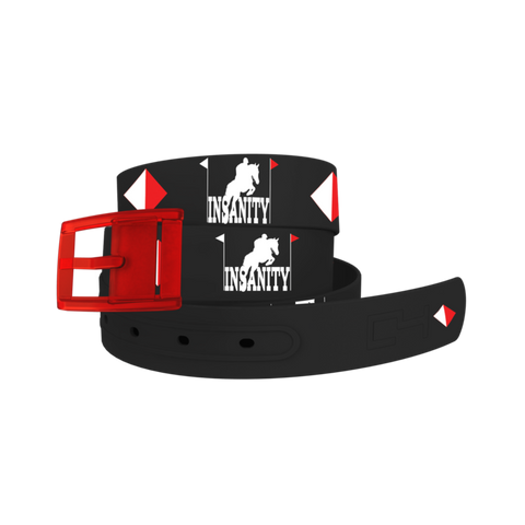 C4 Eventing Insanity Classic Belt / Red Buckle