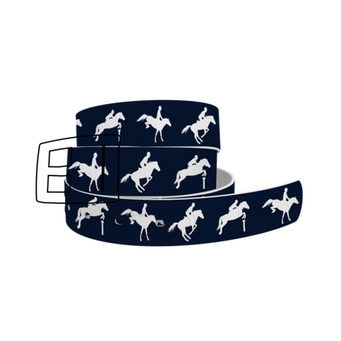 C4 Jump Navy Belt / Silver Chrome Buckle