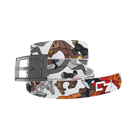 C4 HOTL Hunter Jumper Classic Belt / Grey Buckle
