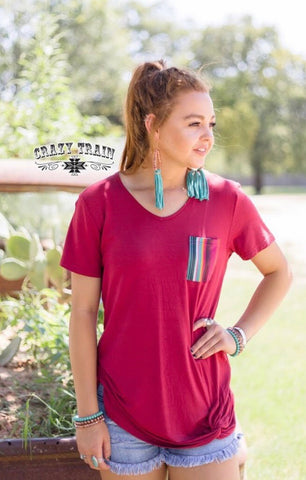 Sour Patch Pocket Knot Tee