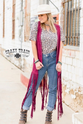 Wyoming Wine Studded Duster