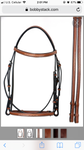 Square Raised Snaffle Bridle