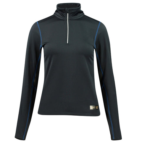 B Vertigo Roxane Women's Long Sleeve zip polo shirt