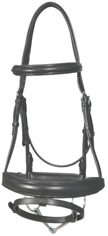 Vespucci Traditional Dressage Bridle w/ Single Crown