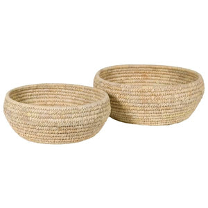 Set of Round Sea Grass Bowls