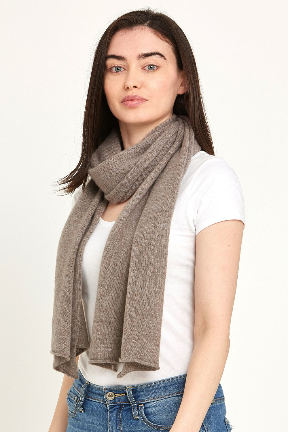 Sparrow Brown Cashmere Scarf