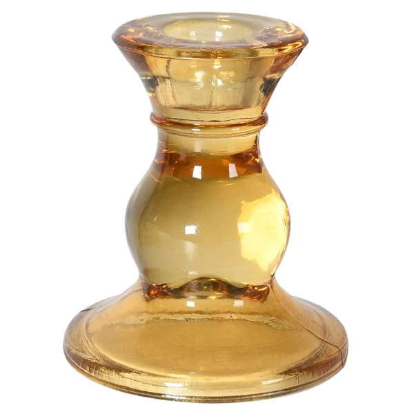 Amber Taper Candle Holder