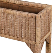 Load image into Gallery viewer, Rattan Standing Planter
