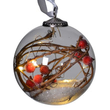 Load image into Gallery viewer, Small Light-up Berry & Twig Bauble