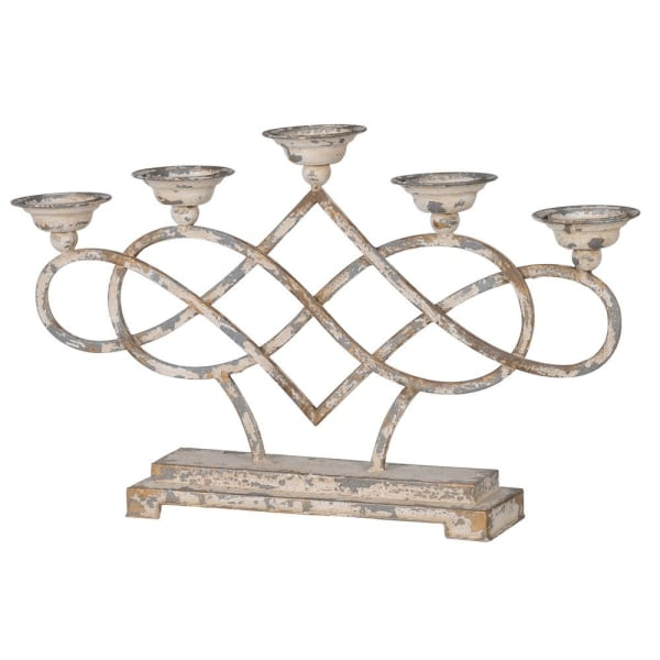 Distressed Multi Metal Candleabra