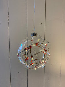 Light Up Glass Berry Ball