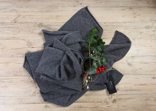Chelsea Grey Cashmere Travel Wrap