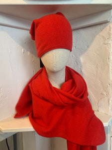 Cashmere Travel Wrap & Slouch Hat
