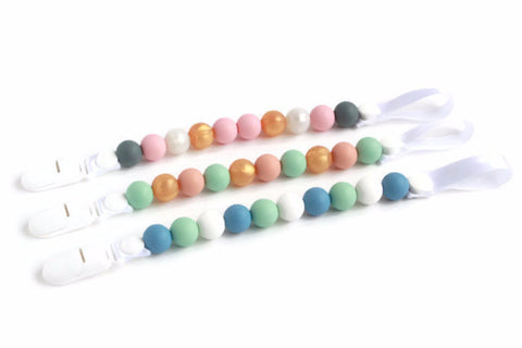 Silicone Pacifier Clips - Pastel Collection - Minted Lane