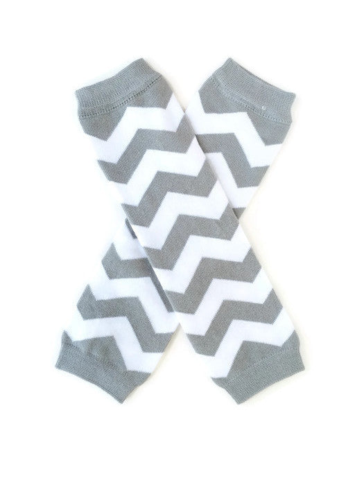 Chevron Leg Warmers - Gray - Minted Lane
