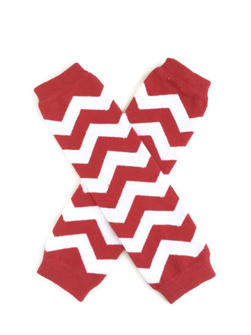 Chevron Leg Warmers - Red - Minted Lane