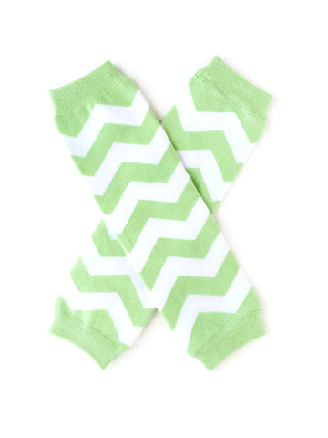 Chevron Leg Warmers - Sage - Minted Lane