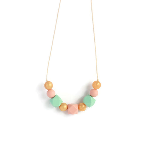 Averie Silicone Teething Necklace - Minted Lane