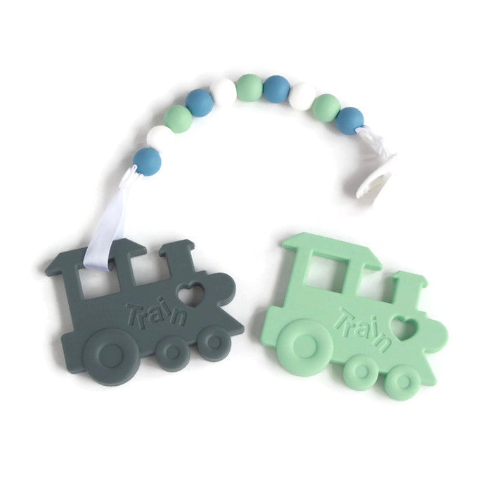 Silicone Teether - Train - Minted Lane