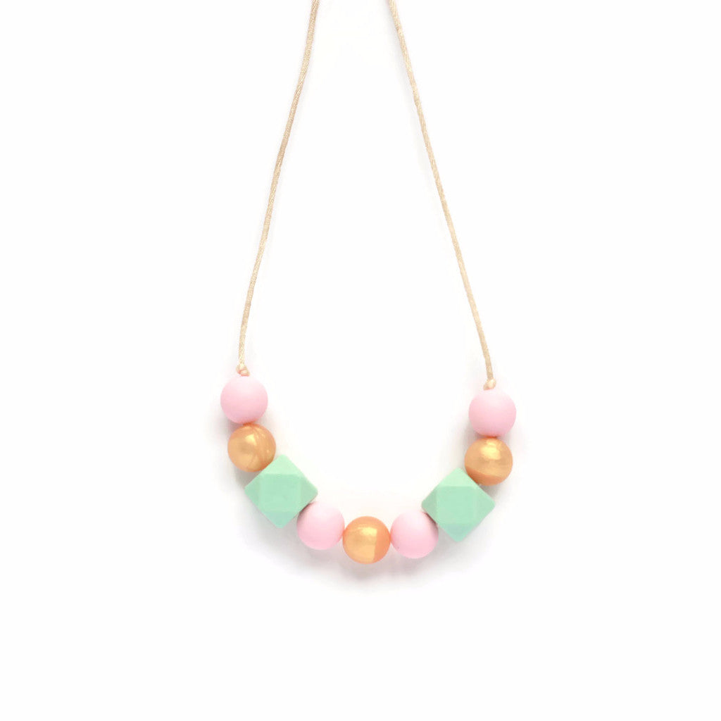 Lauren Silicone Teething Necklace - Minted Lane